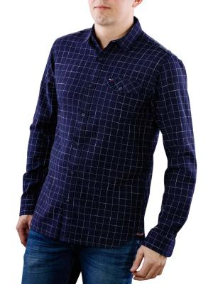 Tommy Jeans Reg Shirt blue depths
