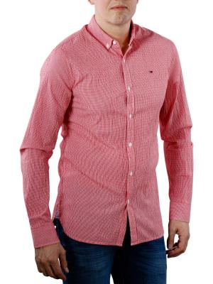 Tommy Jeans Essential Seersucker Shirt racing red