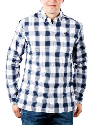 Tommy Jeans Essential Plaid Shirt white/multi