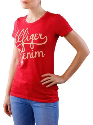 Tommy Jeans Basic Crew Neck T-Shirt lipstick red
