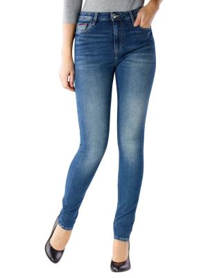 Tommy Jeans Santana High Skinny royal blue stretch