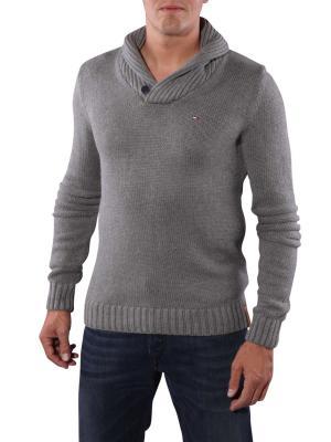 Hilfiger Denim Elliot Shawl Sweater mid grey