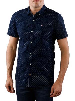 Tommy Jeans Poplin Printed Shirt navy blazer