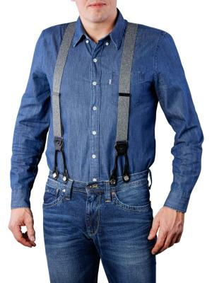Henry Suspenders grey melange by BASIC BELTS