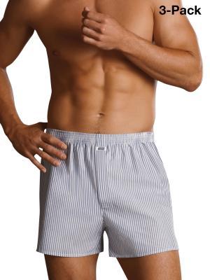 Jockey 3-Pack Woven Boxershorts Striped blue/white