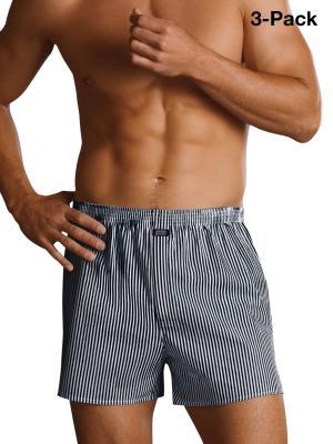 Jockey 3-Pack Woven Boxershorts Striped navy/white