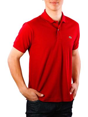 Lacoste Polo Shirt Short Sleeves bordeaux