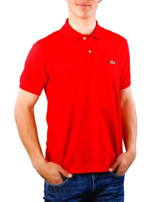 Lacoste Polo Shirt Short Sleeves rouge