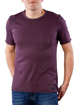 Lee Raw Edge T-Shirt deep plum