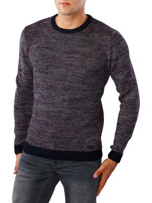 Lee 3 Tone Crew Knit midnight blue