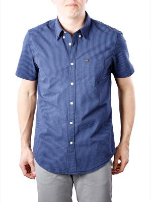 Lee Button Down Shirt SS navy drop