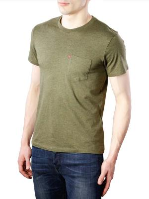 Levi's SS Setin Sunset Pockets T-Shirt sea moss heather