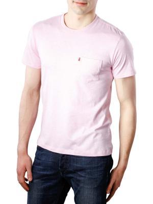 Levi's SS Setin Sunset Pocket T-Shirt pink nectar heather