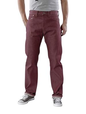 Levi's 501 Jeans Shrink to Fit bordeaux rigid
