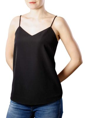 Maison Scotch Woven Jersey Top black