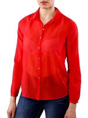 Maison Scotch Lightweight Cotton-Silk chilli red