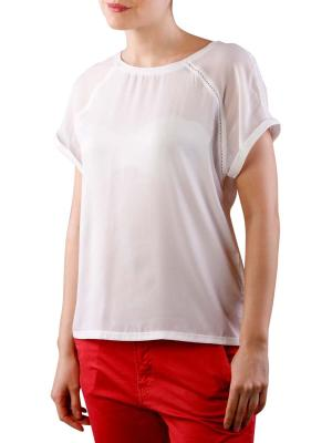 Maison Scotch Sleeveless Jersey T-Shirt white