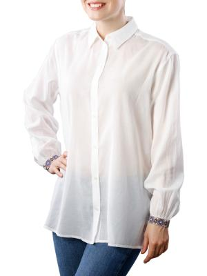 Maison Scotch Longer Length Cotton Shirt off white