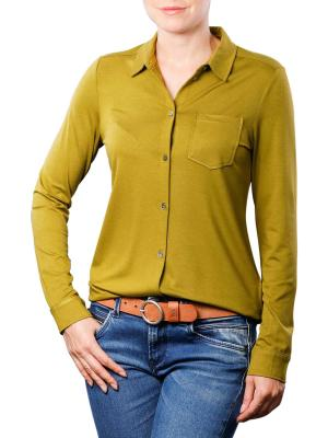 Marc O'Polo Jersey Blouse Collar pea green