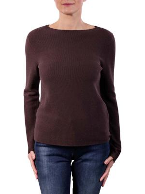 Marc O'Polo Pullover Longsleeve Boat Neck dark chocolate