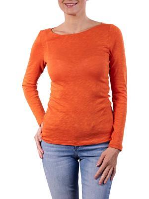 Marc O'Polo T-Shirt Longsleeve Boat Neck pumpkin orange