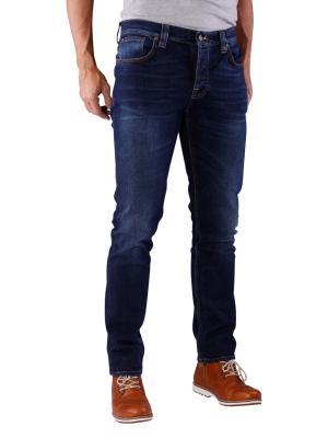 Nudie Jeans Grim Tim crosshatch worn in