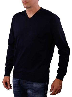 Fynch-Hatton V-Neck Smart Sweater navy
