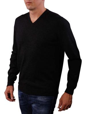 Fynch-Hatton V-Neck Smart Sweater dark