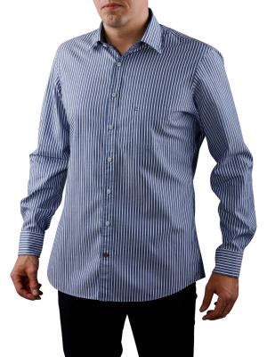 Olymp Casual Streifen Button-Down marine