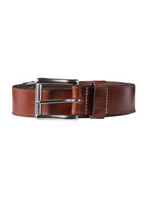 Pat dark brown 40mm by BASIC BELTS