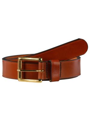 Pat Gold cognac 40mm by BASIC BELTS