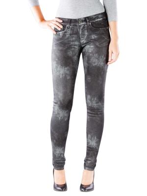 Pepe Jeans Pixie Skinny Silvermoon silver foiled black