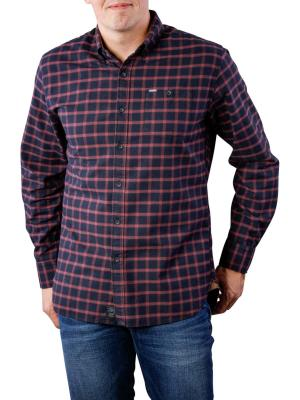 Pepe Jeans Graham Deep Flanel Shirt Check bordeaux