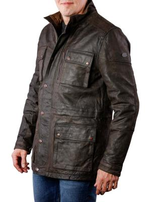 Pepe Jeans Harris Sheep Leather Jacket dark green