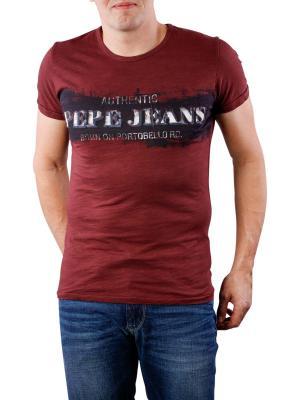 Pepe Jeans Fisher Slub T-Shirt Jersey bordeaux