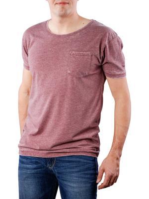 Pepe Jeans Shepherds Burnout T-Shirt bordeaux