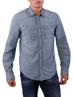 Pepe Jeans Shiels Indigo Light Twill Shirt slate