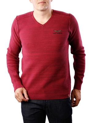 PME Legend V-Neck Cotton Sweater mouline
