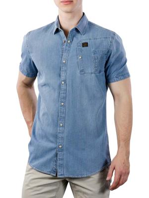 PME Legend Short Sleeve Shirt Denim Style 590
