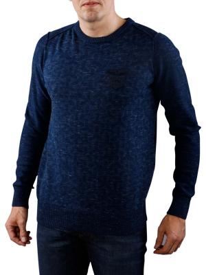 PME Legend Cotton Melange Crewneck blueberry