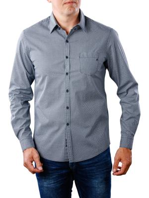 Replay Cotton Shirt reg blue