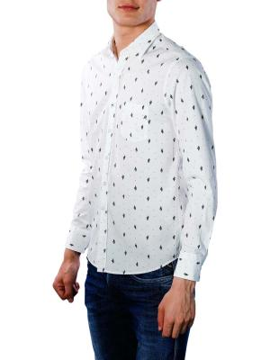 Replay Shirt white with black print