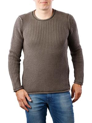 Replay Crew Neck Knit bronze brown