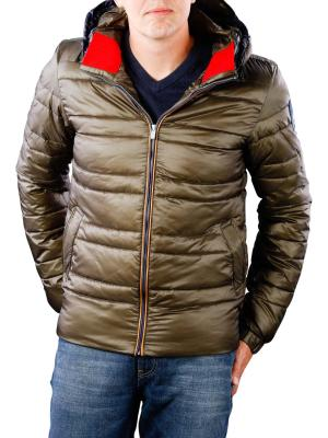 Scotch & Soda Classic Hooded Down Jacket olive