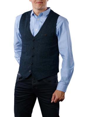 Scotch & Soda Classic Gilet in Wool Quality blue