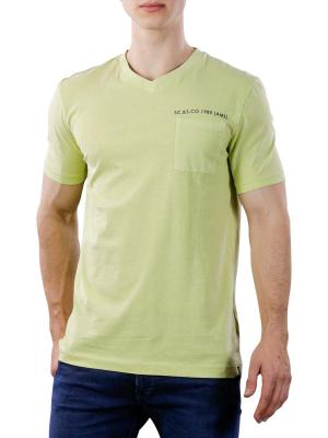 Scotch & Soda Washed V-Neck Tee Chest Pocket 3477