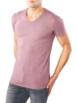 Scotch & Soda Classic V-Neck T-Shirt dirty purple melange