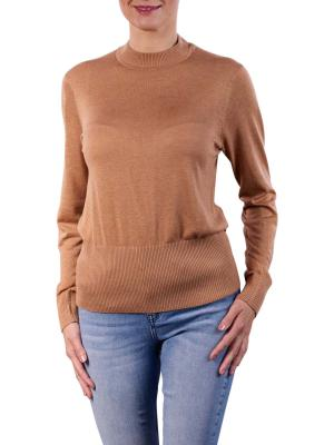 Maison Scotch Lightweight Knit Pullover Fitted Waist camel