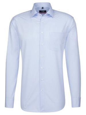 Seidensticker Hemd Modern Fit Kent bügelfrei check blue/w