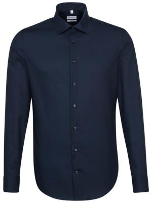 Seidensticker Shirt Slim Fit Business Kent Patch 12 dark blu